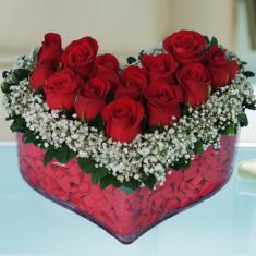 Kalp İçerisinde Kırmızı Güller